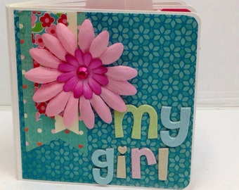 Girl scrapbook premade pages chipboard board book birthday girl