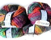 YarnArt Harmony. Color A7. Multicolor, bright, sunny colors. Amazing batik design yarn.