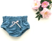 High Waist Baby Girl Denim Bloomers