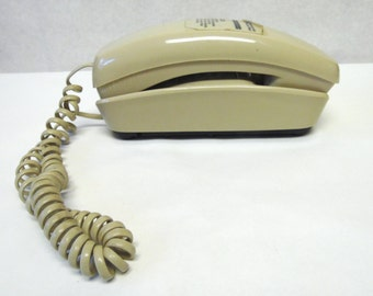 80's Slimline Tan Beige Telephone Trimline Phone