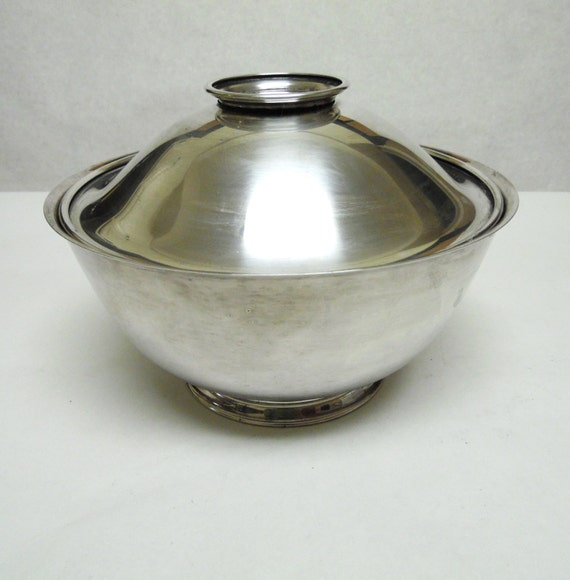 silver plate bowl serving dish with lid onieda. Black Bedroom Furniture Sets. Home Design Ideas
