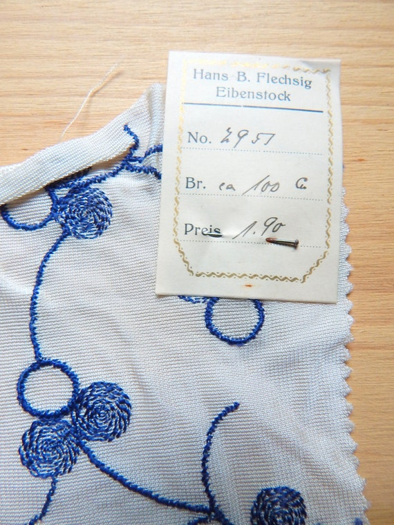 S vintage embroidered fabric samples designs from