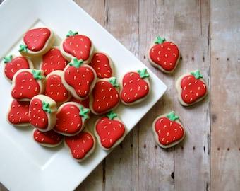 Strawberry Cookies - Mini (2 Dozen)