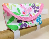 Butterfly and Floral Bicycle Bento Bag 452a