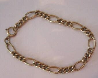 Vintage 12K goldfilled link chain bracelet for charms