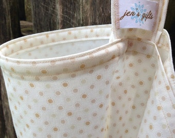 Nursing Cover Up, Breastfeeding Cover- Tan Polka Dots