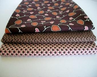 Fat Quarter Fabrics Bundle, 3 Centennial Treasures, Marcus Fabrics, Quilting Sewing Fabric, Accent Fabric, Cotton, Designer Fabric