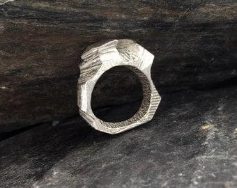 Sterling Silver Ring  'Ymer' Troll Rock Ring