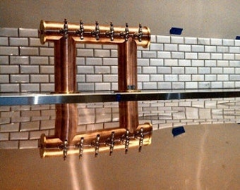 Beautiful Custom 8 10 12 Tap Copper Beer Wine Cider Tap Tower