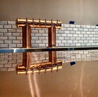 Custom 6 Tap Draft Beer Tower Copper Amp Brass Glycol Cooled