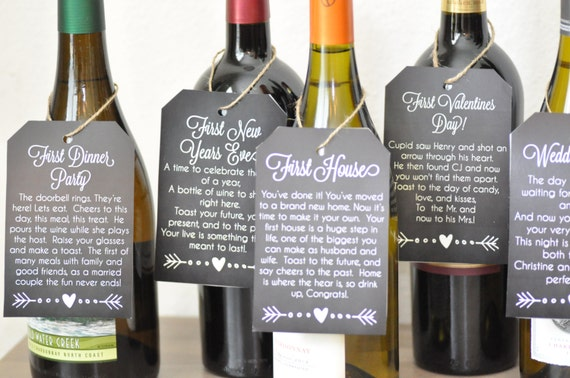 Wedding Gift Wine Tags Printable : Wedding Gift, Bridal Shower, Poem Wine Tags {Printable} from ...