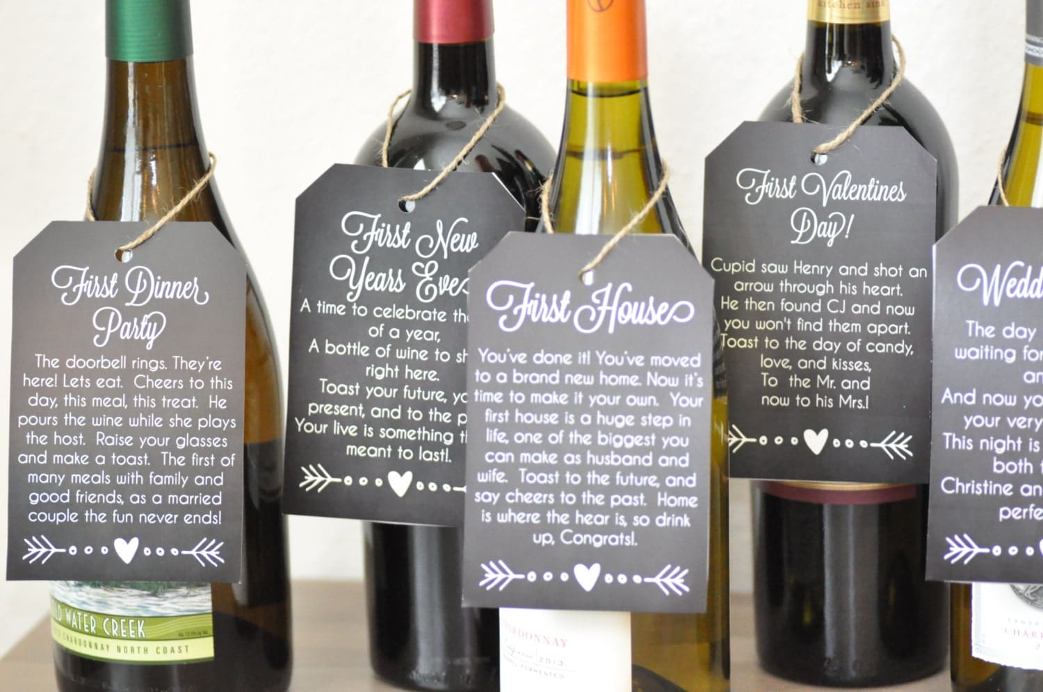 Wine Gifts For Wedding: Wedding Gift Bridal Shower Poem Wine Tags Printable