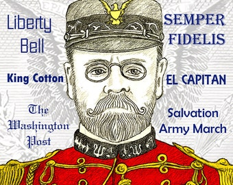 "John Philip SOUSA - a portrait art print of ""The March King"""