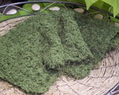 Christmas Mossy Green Mini Posing Blanket Wrap Newborn Photography Prop for Baby Boy or Girl-Soft and Fuzzy for Baby's First Photos