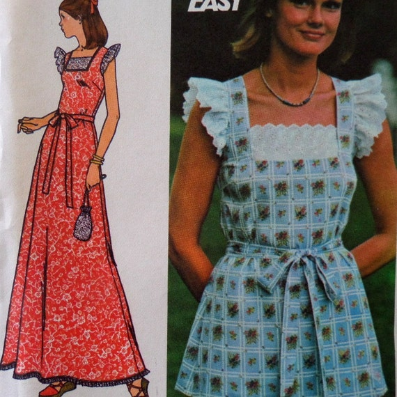 Fitted Maxi Dress Pattern 1970's Semi-fitted Maxi Dress