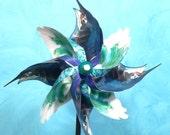 Blue Marlin Pinwheel Spinner Whirligig Windmill