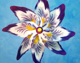 Purple White Flower Pinwheel