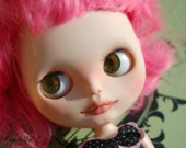 OOAK blythe doll custom pink hair