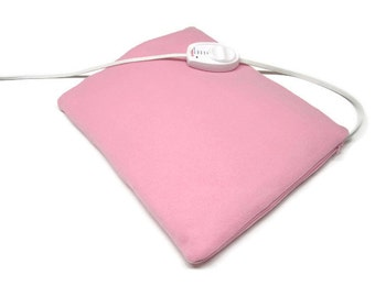 Heating Pad Cover -  Luxurious Padded Fleece Pink   Encouragement Gift