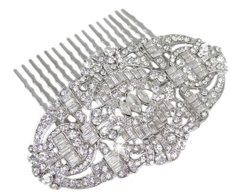 Bridal hair comb, Deco hair comb, Crystal hair comb, Bridal Deco Crystal Hair Comb, Wedding hair comb, 1920s hair comb, pearl hair comb