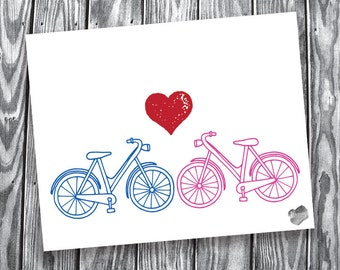 Bicycle Love – Digital File – 8x10 (Landscape)