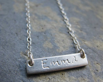 Sterling silver name necklace - personalised sterling silver name pendant