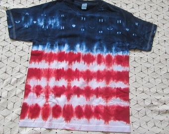 "Tie dye shirt: Adult Large!  ""Stars and Stripes"", God bless the USA, July 4th"