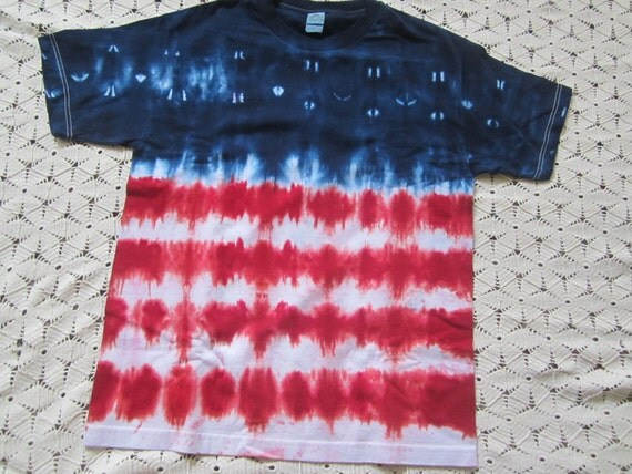 Tie Dye Shirt Adult Large Stars And Stripes