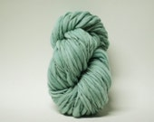 Yarn Handspun Wool Thick and Thin Slub  Hand Dyed tts(tm) Merino Bulky Sea Mist 04