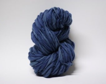 Thick and Thin Handspun Merino Yarn Wool Slub  Hand Dyed tts(tm) Bulky Stonewashed 03