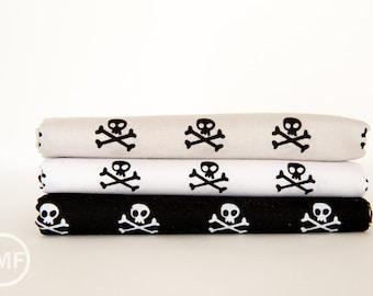 Military Max Skulls Fat Quarter Bundle , 3 Pieces, Stephanie Hunt, Bella Blvd, Riley Blake Designs, 100% Cotton Fabric, C4373