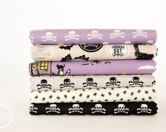 Happy Haunting Half Yard Bundle , 6 Pieces, Deena Rutter, Riley Blake Designs, 100% Cotton Fabric, C4670