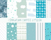 Baby Shower Backgrounds, It's a Boy Digital Papers, Cute Baby Shower Texture, Boy Baby Background