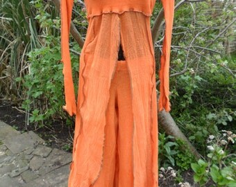 Split Front Dress and Trousers