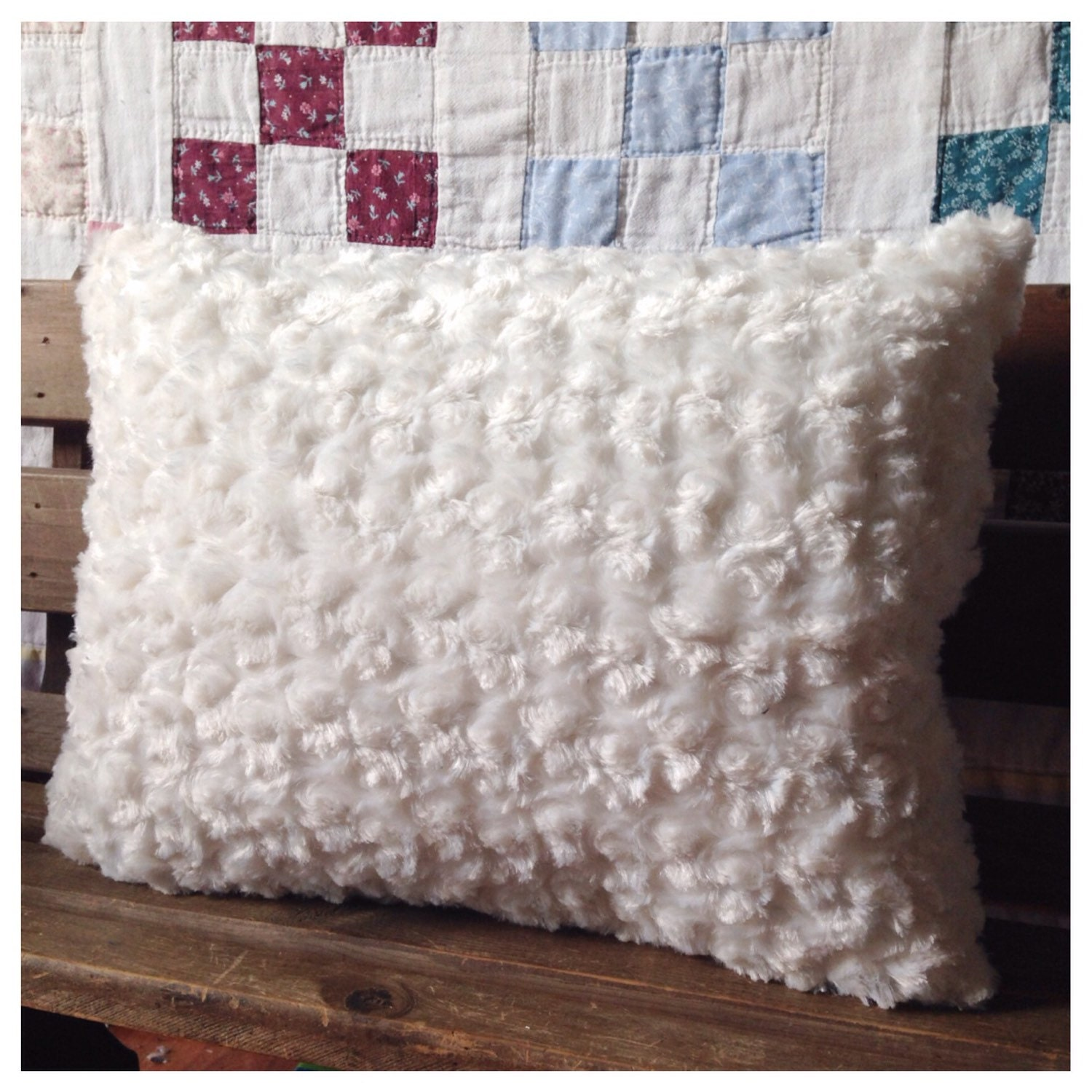 How To Make Shabby Chic Throw Pillows : Shabby Chic Throw Pillow Ivory and Cream Rosette and Ribbon