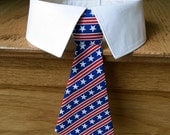 Reserved for Lizbeth - Red White and Blue Stars and Stripes Dog Neck Tie