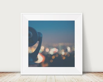 los angeles photograph california wall art Mulholland Drive photograph night photograph blue wall decor cityscape photograph