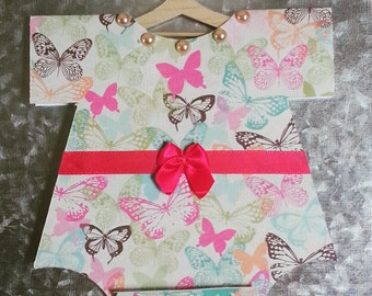 Magnetic Butterfly Onesie Baby Shower Invitation