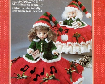"Fibre Craft | CHRISTMAS CAROLER | 13"" Music Box Doll 