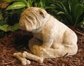 Concrete Bulldog statue or memorial