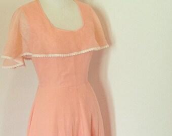 Peach Cotton Maxi