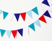 Festive Felt Flag Bunting Banner Garland 6 ft - Perfect Birthday and Party Decoration 4th of July