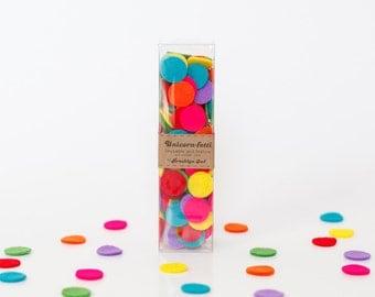 Festive Rainbow Unicorn-Fetti Confetti Circles - Perfect Birthday and Party Decoration