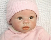 Hand Made Soft Silicone Reborn Baby Doll Lifelike Newborn Baby Doll 22 inch Toy Gift