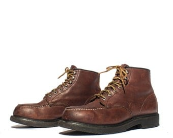 "10 D | Red Wing Boots 4439 6"" Chukka Moc Toe Work Boots Steel Toes"
