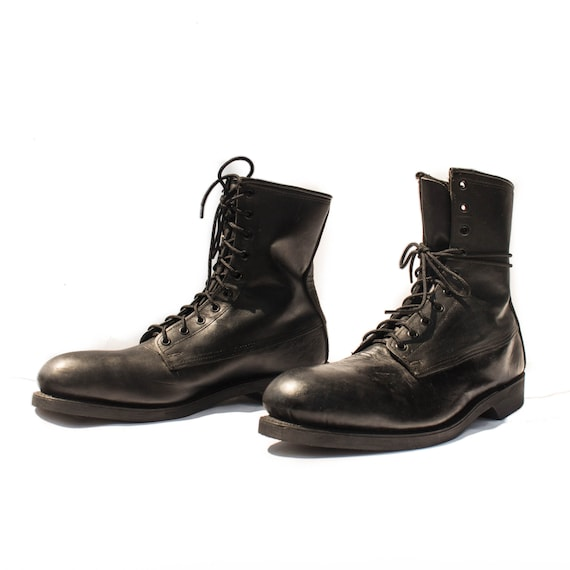 12 altima steel toe boots black leather by shopndg