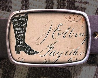 Vintage Boot and Shoe Belt Buckle, Vintage Inspired, Shabby Chic 620