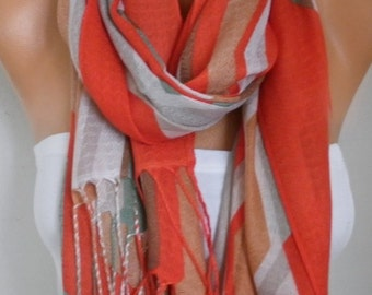 Red Cotton Scarf, Shawl, Summer, Cowl Oversized Wrap,bridesmaid gift,bridal scarf Gift Ideas For Her Women Fashion Accessories Women Scarves