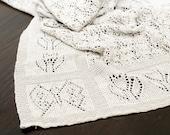Baby blanket - Finest merino yarn