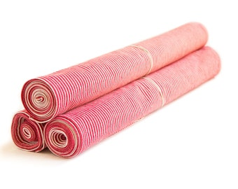 Red Hickory Stripe Table Runner